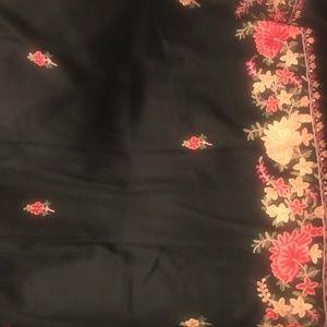 Handmade Wool Black Shawl